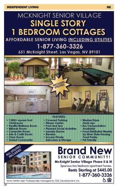 55 senior apartments Nevada Senior Guide