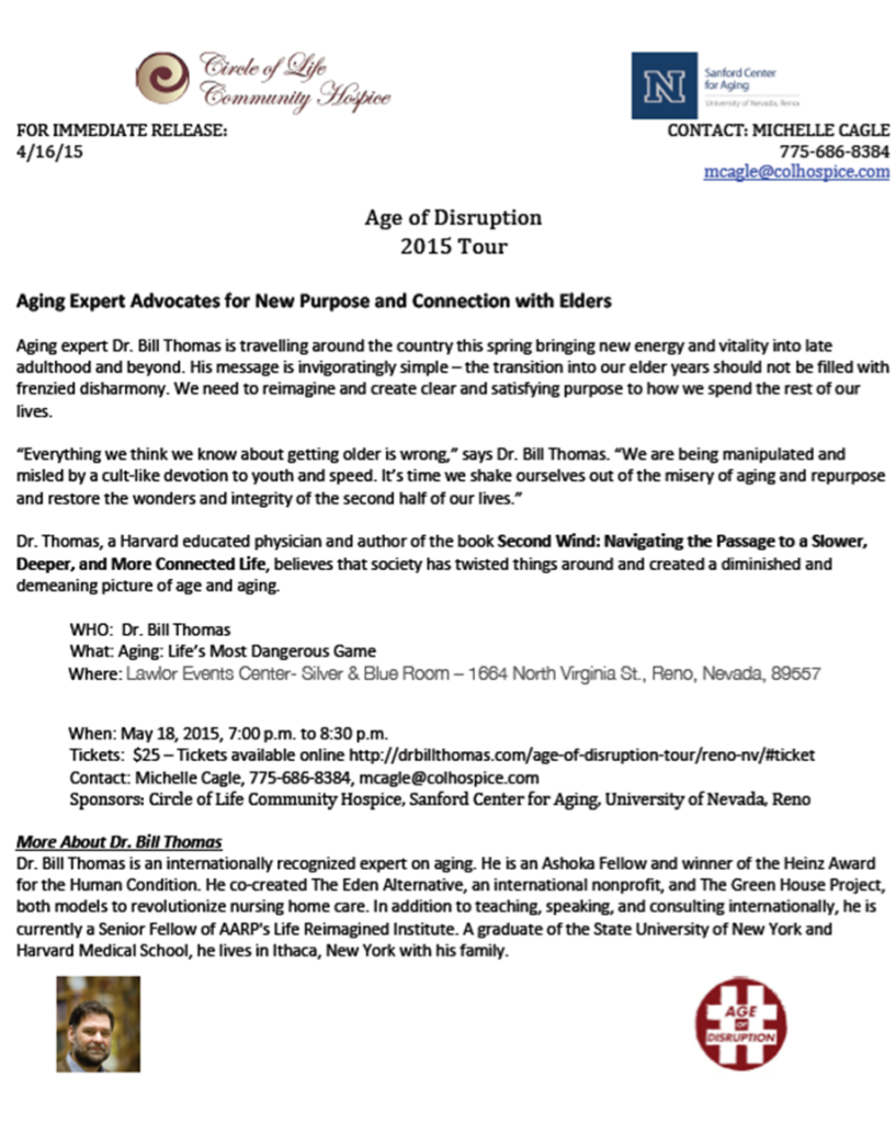 Press Release Reno Age of Disruption2
